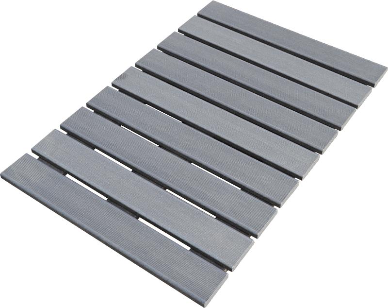 Pedana doccia in legno ecotech grigio cm 55x68 linea - Pavimento esterno ikea ...